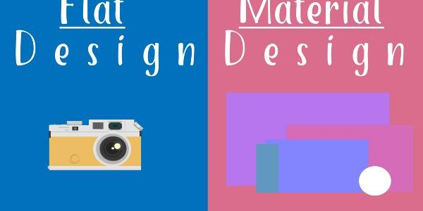 Comparing Flat Design and Material design in Website Design