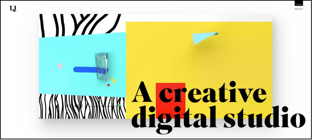 A screenshot of Homepage of a Website to show how broken grids make the website design effective