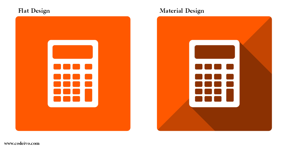 Material Design over Flat sets a new trend for web designing