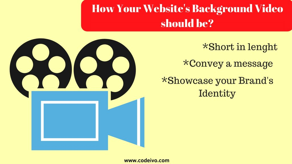 A video in the background as a designing aspect of the website attracts the visitor attention and conveys your message