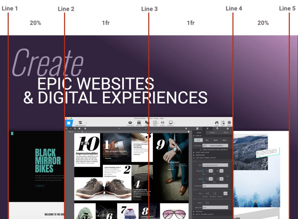Any website structure is designed in accordance to some imaginary lines known as Grid