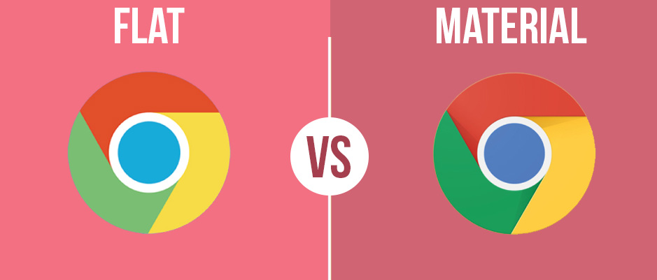 Material design gives more visuals than flat design and lead in web designing trends.